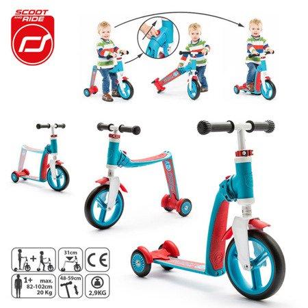 SCOOTANDRIDE Highwaybaby PLUS 2w1 hulajnoga i rowerek 1+ Blue