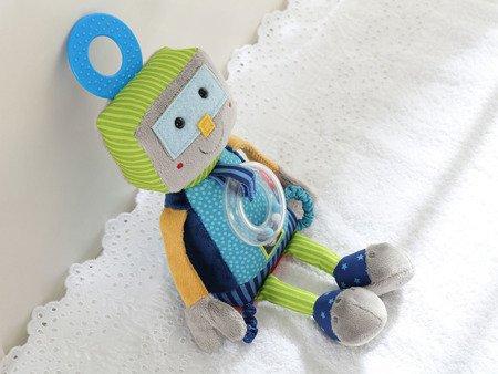 SIGIKID Przytulanka aktywizująca Robot z grzechotką, gryzakiem i szeleszczącą folią Papa&Me