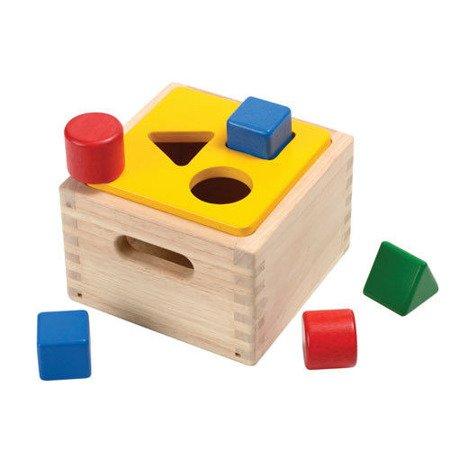 Skrzynia, drewniany sorter z figurami geometrycznymi, Plan Toys®