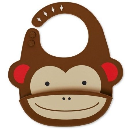 Śliniak silikonowy Zoo Małpa