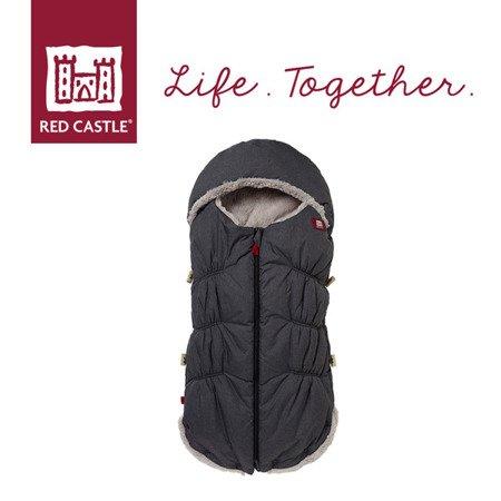 Śpiwór zimowy do wózka i fotelika Babynest 0-6m Heather Grey, Red Castle