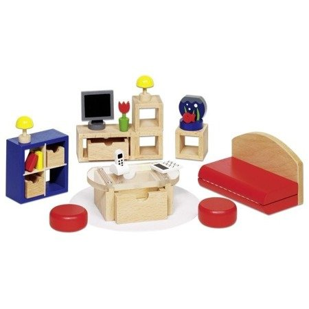 Sypialnia - mebelki do domku dla lalek, GOKI-51749