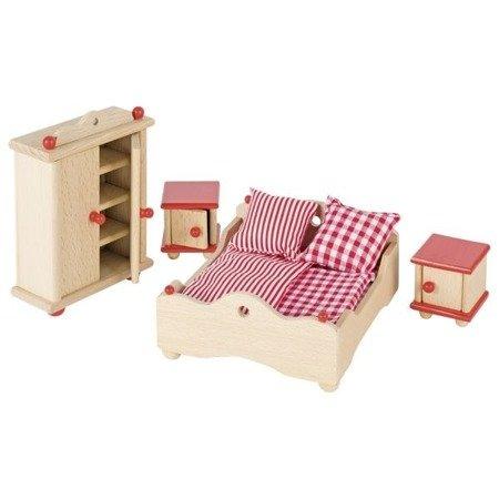 Sypialnia - mebelki do domku dla lalek, GOKI-51954