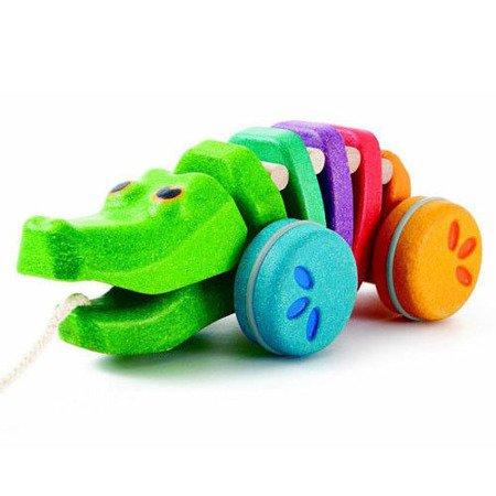 Tęczowy krokodyl do ciągnięcia, Plan Toys®