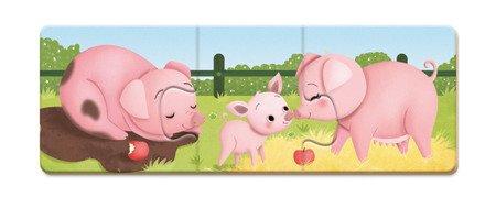 Trzyczęściowe puzzle Zwierzęta i ich dzieci 30 elementów, Janod