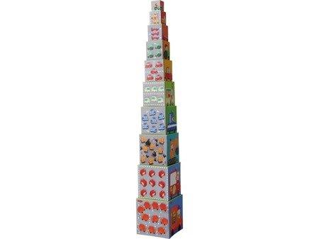 Wieża kostek układanka Autka Haba