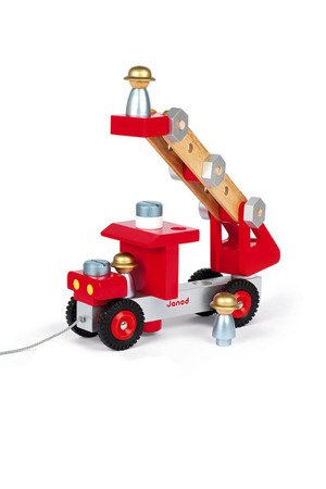 Wóz strażacki do składania drewniany duży, Janod